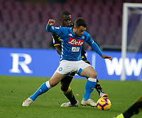 Amin Younes of Napoli 1 during the  italian serie a soccer match,  SSC Napoli - Frosinone       at  the San  Paolo   stadium in Naples  Italy , December 08, 2018