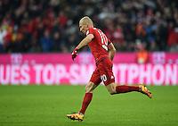 FUSSBALL  1. BUNDESLIGA  SAISON 2015/2016  24. SPIELTAG FC Bayern Muenchen - 1. FSV Mainz 05       02.03.2016 Arjen Robben (FC Bayern Muenchen) bejubelt seinen Treffer zum 1:1