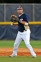 2 March 2012:  FIU infielder/outfielder Adam Kirsch (10) throws home during pre-game warm-ups as the FIU Golden Panthers defeated the Brown University Bears, 6-5, at University Park Stadium in Miami, Florida.