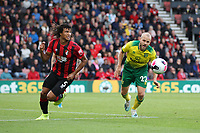 Nathan Aké of Bournemouth and Teemu Pukki of Norwich City both go for the ball during the Premier League match between Bournemouth and Norwich City at Goldsands Stadium on October 19th 2019 in Bournemouth, England. (Photo by Mick Kearns/phcimages.com)<br /> Foto PHC/Insidefoto <br /> ITALY ONLY