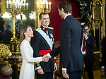 First official act of the Kings Felipe VI and Letizia Ortiz, waving at Pau Gasol. Royal Palace. Madrid. 06/19/2014. Samuel Roman/Photocall3000
