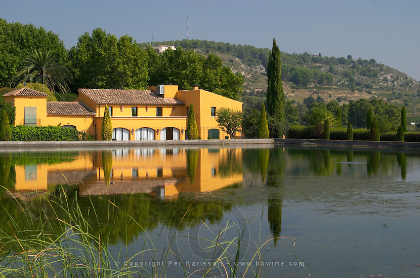 The private house and dam of the Torres family. Torres Penedes Catalonia Spain