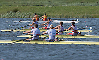 Rotterdam. Netherlands. USA M2+. in the mix just after the 1500 marker. 2016 J {WRCH2016}  at the Willem-Alexander Baan.   Saturday  27/08/2016 <br /> <br /> [Mandatory Credit; Peter SPURRIER/Intersport Images]