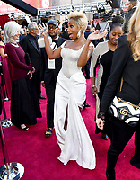 Mary J. Blige arrives at the Oscars on Sunday, March 4, 2018, at the Dolby Theatre in Los Angeles. (Photo by Charles Sykes/Invision/AP)