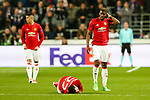 Manchester United's Paul Pogba looks on as Manchester United's Henrikh Mkhitaryan is on the floor post foul during the Europa League Quarter Final 1st leg match at RSCA Constant Vanden Stock Stadium, Anderlecht, Belgium. Picture date: April 13th, 2017.Pic credit should read: Charlie Forgham-Bailey/Sportimage