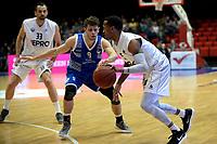 GRONINGEN - Basketbal, Donar - Landstede Zwolle , Martiniplaza,  halve finale beker, seizoen 2017-2018, 13-02-2018,  Donar speler Teddy Gipson met Landstede speler Mike Schilder