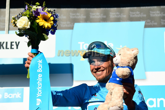 Magnus Cort Nielsen (DEN) Astana Pro Team wins at the summit of the Cow and Calf the finish of Stage 2 of the Tour de Yorkshire 2018 running 149km from Barnsley to Ilkley, England. 4th May 2018.<br /> Picture: ASO/Alex Broadway | Cyclefile<br /> <br /> <br /> All photos usage must carry mandatory copyright credit (© Cyclefile | ASO/Alex Broadway)