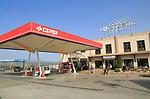 Cepsa petrol service station and Voltasur electricity company building, Ronda, Malaga province, Spain