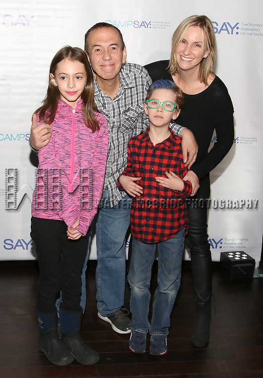 Lily Gottfried, Gilbert Gottfried, Max Gottfried and Dara Gottfried attend the 5th Annual Paul Rudd All-Star Bowling Benefit for (SAY) at Lucky Strike Lanes on February 13, 2017 in New York City.