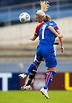 Cecilie Pedersen and Dora Stefansdottir, Women's EURO 2009 in Finland.Iceland-Norway, 08272009, Lahti