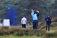 Edoardo Molinari (ITA) on the 2nd during Round 4 of the Sky Sports British Masters at Walton Heath Golf Club in Tadworth, Surrey, England on Sunday 14th Oct 2018.<br /> Picture:  Thos Caffrey | Golffile<br /> <br /> All photo usage must carry mandatory copyright credit (&copy; Golffile | Thos Caffrey)