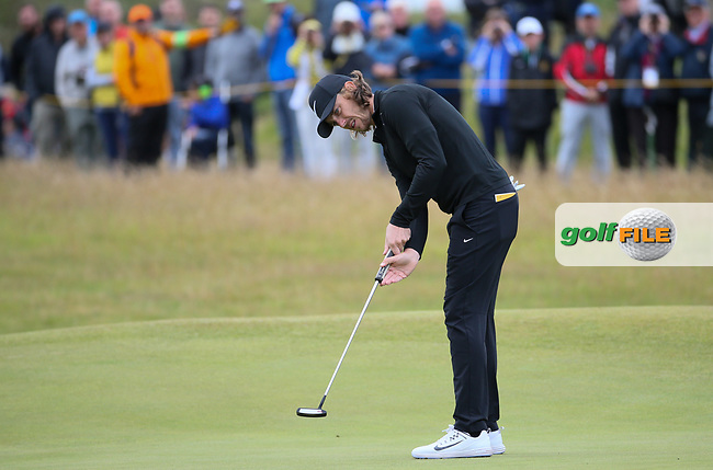 Tommy Fleetwood (ENG) at the 4th during Thursday's Round One at The 146th Open played at Royal Birkdale, Southport, England.  20/07/2017. Picture: David Lloyd | Golffile.<br /> <br /> Images must display mandatory copyright credit - (Copyright: David Lloyd | Golffile).
