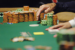 Gold's large chip stack.