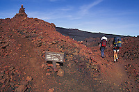 Hiking Mauna Loa crater, Big island of Hawaii
