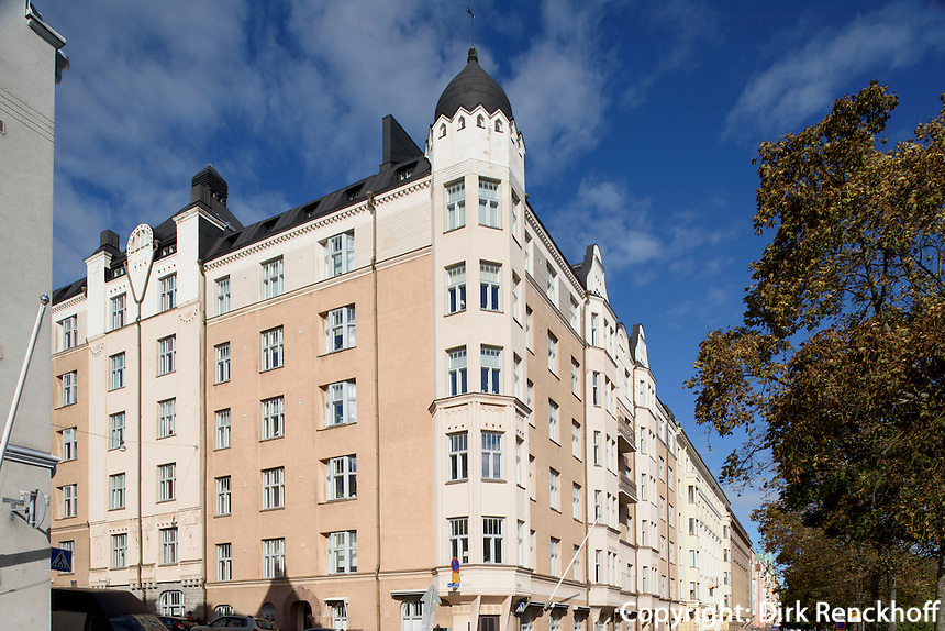 Jugendstil in Eira, Helsinki, Finnland