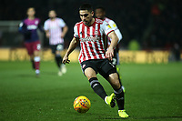 Neal Maupay of Brentford in action during Brentford vs Aston Villa, Sky Bet EFL Championship Football at Griffin Park on 13th February 2019