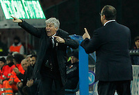 Gian Piero Gasperini   in action during the Italian Serie A soccer match between SSC Napoli and Genoa CFC   at San Paolo stadium in Naples, Feburary 24 , 2014