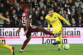 September 8th 2017, Stade Saint-Symphorien, Metz, France; French League 1 football, Metz versus Paris St Germain;  Julian DRAXLER (psg) passes in front of Ribeiro Dias (metz)