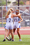 Torrance, CA 05/09/13 - Emilie East (Agoura #9), Kelsie Garrison (Agoura #23) and Talia Fiance (Agoura #7) in action during the 2013 Los Angeles area Girls Varsity Lacrosse Championship.  Agoura defeated Oak Park 13-7.
