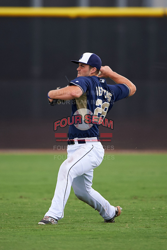 San Diego Padres Michael Gettys (28) during practice before an instructional league game against the Milwaukee Brewers on October 6, 2015 at the Peoria Sports Complex in Peoria, Arizona.  (Mike Janes/Four Seam Images)