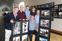 Former Taoiseach Charles J Haughey's sons Conor and Sean Haughey pictured with their sons Eoin and Niall getting a preview of the MacMonagle Photo Exhibition entitled -A Century of Photography which will be opened next Friday night August 23rd by Kerry footballer Marc O'Se in the Blasket Centre, Dun Chaoin, County Kerry. <br /> The exhibition will feature several hundred images with a west Kerry flavour featuring images of local people and visiting dignatories. Included in the picture are third generation photographer Don MacMonagle and Daithi de Mordha, historian at The Blasket Centre. The exhibition will run until the end of September.<br /> Picture by Mary Susan MacMonagle