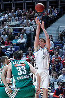Real Madrid's Carlos Suarez during Euroleague 2012/2013 match.January 11,2013. (ALTERPHOTOS/Acero) NortePHOTO
