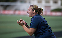 Seattle, WA - Saturday July 15, 2017: Laura Harvey during a regular season National Women's Soccer League (NWSL) match between the Seattle Reign FC and the Boston Breakers at Memorial Stadium.