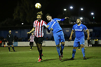Jay Knight of Clapton and Partick Duggan of Redbridge during Redbridge vs Clapton, Essex Senior League Football at Oakside Stadium on 14th November 2017