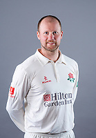 Picture By Allan McKenzie/SWpix.com - 11/04/18 - Cricket - Lancashire County Cricket Club Photo Call Media Day 2018 - Emirates Old Trafford, Manchester, England - Karl Brown.