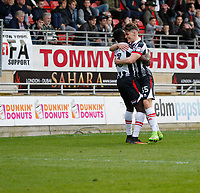 GOAL - Grimsby Town's Akwasi Asante scores the second goal during the Sky Bet League 2 match between Leyton Orient and Grimsby Town at the Matchroom Stadium, London, England on 11 March 2017. Photo by Carlton Myrie / PRiME Media Images.