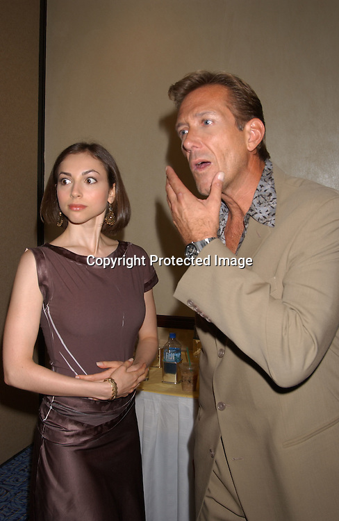Eden Riegel and Walt Willey                               ..at the All My Children Fan Club Luncheon on August 10, 2003 at the Marriott Marquis in New York.                           Photo by Robin Platzer, Twin Images
