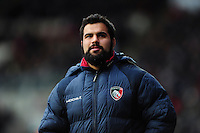 Riccardo Brugnara of Leicester Tigers looks on. Aviva Premiership match, between Leicester Tigers and Exeter Chiefs on March 6, 2016 at Welford Road in Leicester, England. Photo by: Patrick Khachfe / JMP