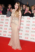 Alana Spencer at the National TV Awards 2017 held at the O2 Arena, Greenwich, London. <br /> 25th January  2017<br /> Picture: Steve Vas/Featureflash/SilverHub 0208 004 5359 sales@silverhubmedia.com
