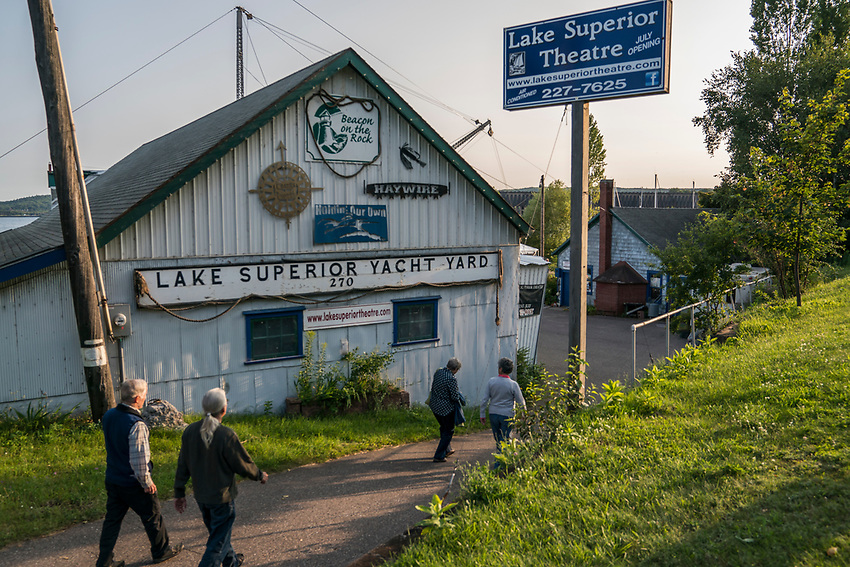 The Lake Superior Theater in a converted boathouse on the Lake Superior waterfront of Marquette, Michigan.
