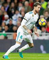 Real Madrid's Sergio Ramos during La Liga match. November 5,2017. (ALTERPHOTOS/Acero)