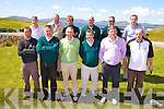 The Waterville GC team who took part in the Jimmy Bruen Golf competition at Skelligs Bay GC on Saturday were front l-r; Darragh Courtney, Andrew Cooke, Ray Sheehan, Noel O'Sullivan, Michael Murphy, Jimmy Sugrue, back l-r; Kevin O'Dwyer, Finbar McGillicuddy, Mark O'Dwyer, Aidan McAuliffe, Don Mullins & Paul Sheehan.