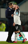 Phillip Cocu manager of Derby County and Wayne Rooney of Derby County during the FA Cup match at the Pride Park Stadium, Derby. Picture date: 5th March 2020. Picture credit should read: Darren Staples/Sportimage