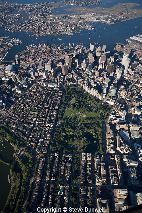 aerial view, Boston, MA 3000 ft