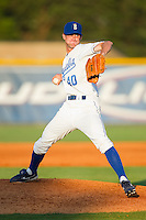 Relief pitcher Chas Byrne #40 of the Burlington Royals in action against the Princeton Rays at Burlington Athletic Stadium July 11, 2010, in Burlington, North Carolina.  Photo by Brian Westerholt / Four Seam Images