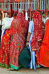 Women shopping for beads, Bundi, India