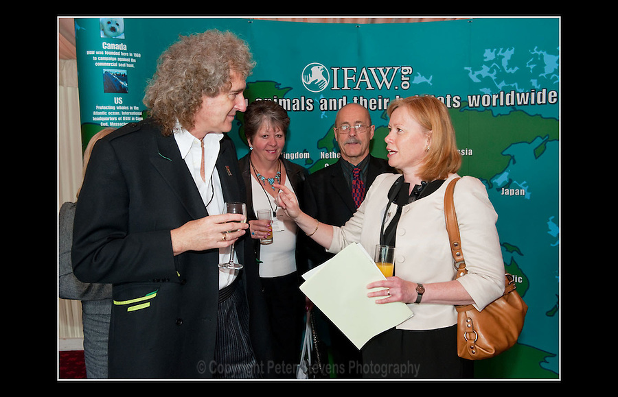 Dr Brian May CBE &amp; Baroness Angela Smith - IFAW Animal Action Awards - House of Lords, Westminster, London SW1 - 19th October 2010 - <br /> <br /> The International Fund for Animal Welfare (IFAW) was founded by a small group of people in 1969. Its mission is to improve the welfare of wild and domestic animals throughout the world by reducing commercial exploitation of animals, protecting wildlife habitats, and assisting animals in distress.<br /> <br /> Website:  http://www.ifaw.org