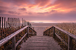 Sunrise on Footbridge Beach in Ogunquit, Maine, USA