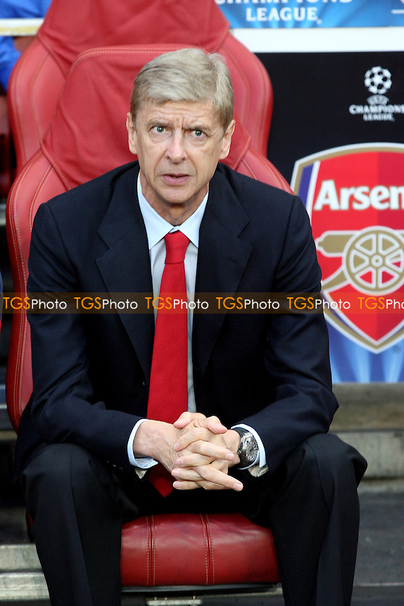 Arsenal manager Arsene Wenger - Arsenal vs Fenebahce SK at the Emirates Stadium - 27/08/13 - MANDATORY CREDIT: Dave Simpson/TGSPHOTO - Self billing applies where appropriate - 0845 094 6026 - contact@tgsphoto.co.uk - NO UNPAID USE