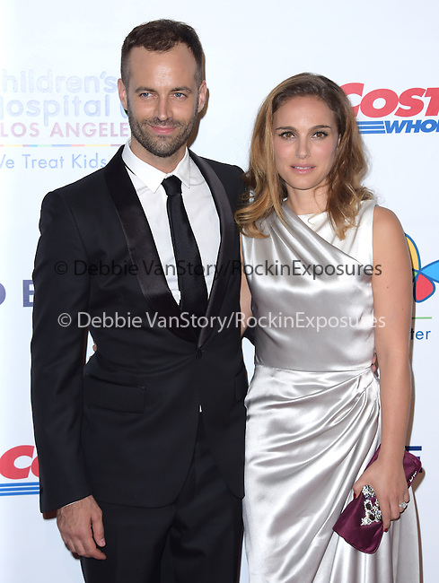 Benjamin Millepied and Natalie Portman attends The Children's Hospital Los Angeles Gala: Noche de Ninos held at The Event Deck at Nokia Live in Los Angeles, California on October 11,2014                                                                               © 2014 Hollywood Press Agency