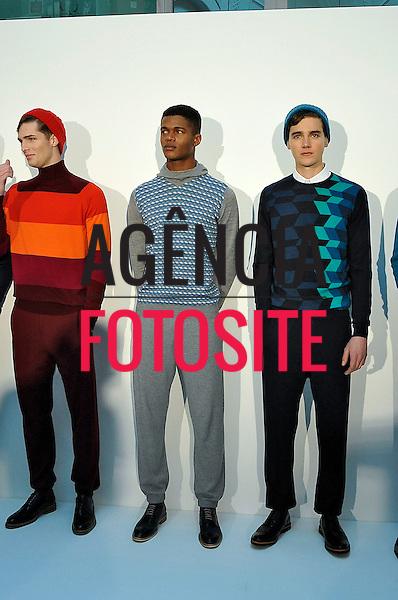 Londres, Inglaterra &ndash; 08/01/2014 - Desfile de John Smedley durante a Semana de moda masculina de Londres - Inverno 2014. <br /> Foto: FOTOSITE
