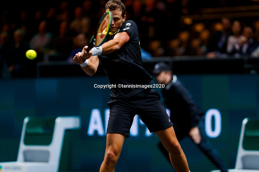 Rotterdam, The Netherlands, 12 Februari 2020, ABNAMRO World Tennis Tournament, Ahoy. Vasek Pospil (CAN).<br /> Photo: www.tennisimages.com