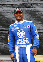 Jul. 28, 2013; Sonoma, CA, USA: NHRA top fuel dragster driver Antron Brown during the Sonoma Nationals at Sonoma Raceway. Mandatory Credit: Mark J. Rebilas-