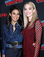 NEW YORK, NY - October 6: Emmanuelle Chriqui, Brianne Howey at New York Comic Con 2018 promoting FOX TV's The Passage at the Jacob K. Javits Convention Center in New York City on October 06, 2018. <br /> CAP/MPI/RW<br /> &copy;RW/MPI/Capital Pictures