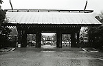 The Shinchi Teien gate at Yasukuni shrine during a snow storm. December 29, 2004. Established in 1869 by the Meiji Emperor to commerate those who died in the Boshin War. The shrine now houses the souls or 'kami' of Japan's war dead including 14 A-class war criminals who were interned among the 2.5 million war dead in 1978. Visits to the shrine by Japanese Prime Ministers create tensions with Japan's Asian neighbors. (Photo by Bruce Meyer-Kenny/AFLO)