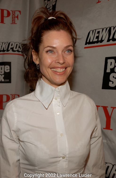 Model Carol Alt arrives at the launch party for the New York Post's first 20 page full-color fashion supplement February 7, 2002, in New York.  Sarah and Lachlan Murdoch hosted the party at the Mercer Kitchen in Soho..